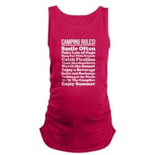 Camping Rules Maternity Tank Top