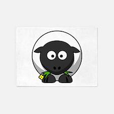 Cartoon Sheep 5'x7'Area Rug