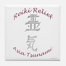 Reiki Relief - Asia Tsunami Tile Coaster
