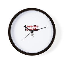 Spyder Red Wall Clock