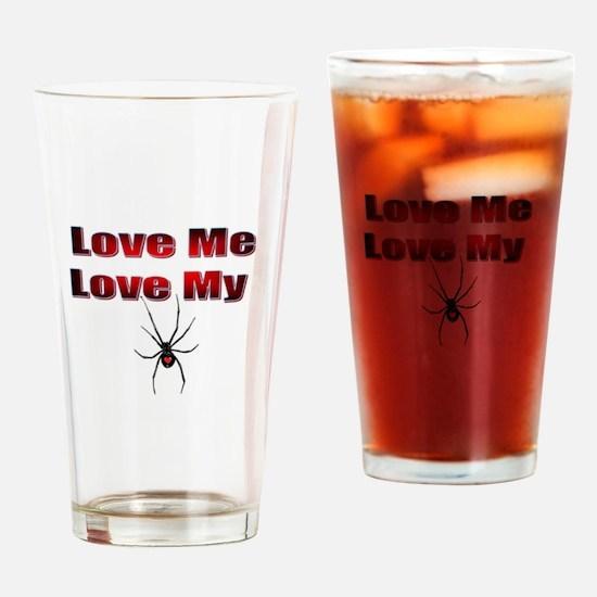 Spyder Red Drinking Glass