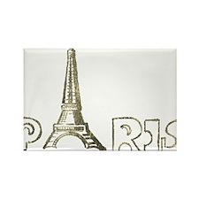 Paris Eiffel Foil 02 Rectangle Magnet (10 pack)