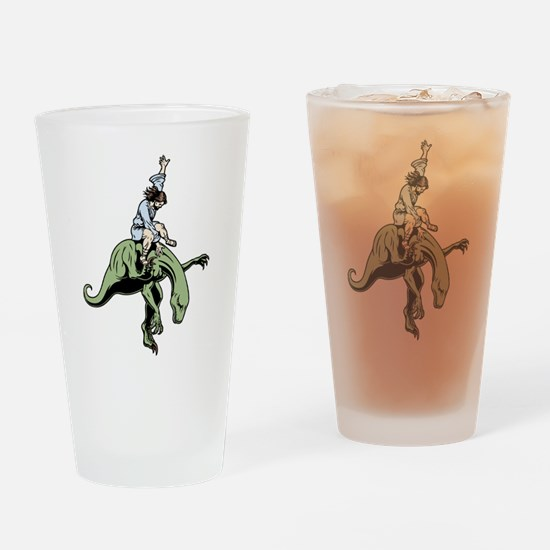 Raptor Rodeo Jesus Drinking Glass