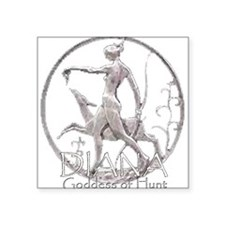 "Cute Greek goddess Square Sticker 3"" x 3"""