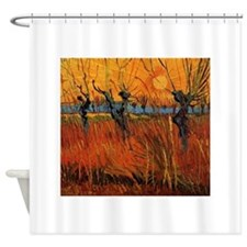 Van Gogh Willows at Sunset Shower Curtain