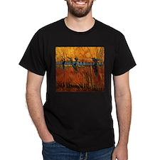 Van Gogh Willows at Sunset T-Shirt