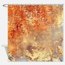 Abstract in Red, Yellow, and Smoke Shower Curtain
