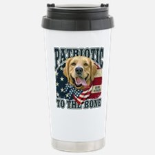 Patriotic Golden Stainless Steel Travel Mug