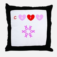 Cure Breast Cancer Pink Brigade Flo's Throw Pillow