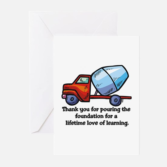 Unique Thank you teacher Greeting Cards (Pk of 20)