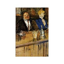Toulouse-Lautrec - At the Cafe, T Rectangle Magnet