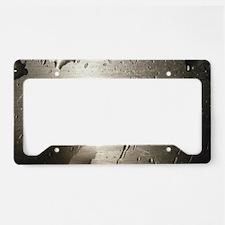 Silver Watermark License Plate Holder