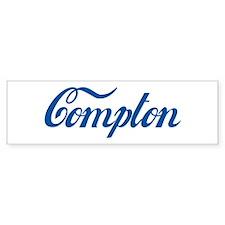 Compton (cursive) Bumper Bumper Sticker