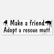 Adopt A Mutt Bumper Bumper Bumper Sticker