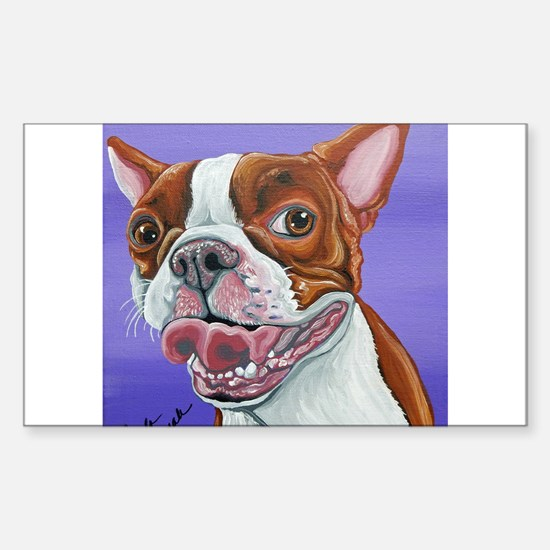 Red Boston Terrier Decal