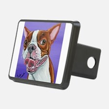 Red Boston Terrier Hitch Cover