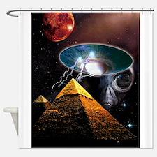 pyramids.tif Shower Curtain