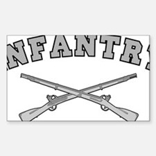 ARMY INFANTRY CROSSED RIFLES Decal