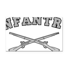 ARMY INFANTRY CROSSED RIFLES Rectangle Car Magnet