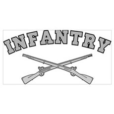 ARMY INFANTRY CROSSED RIFLES Poster