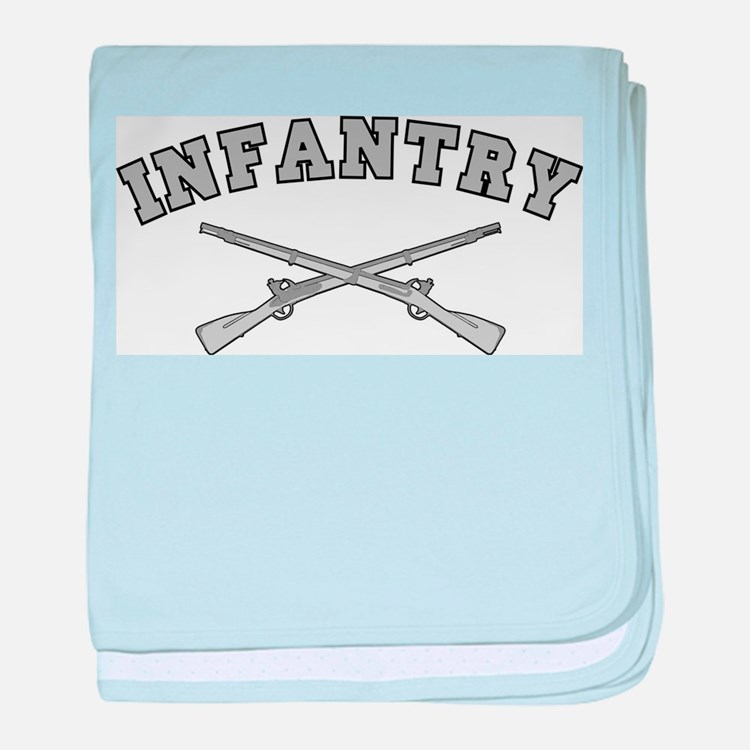 ARMY INFANTRY CROSSED RIFLES baby blanket