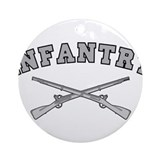 Army infantry Round Ornaments