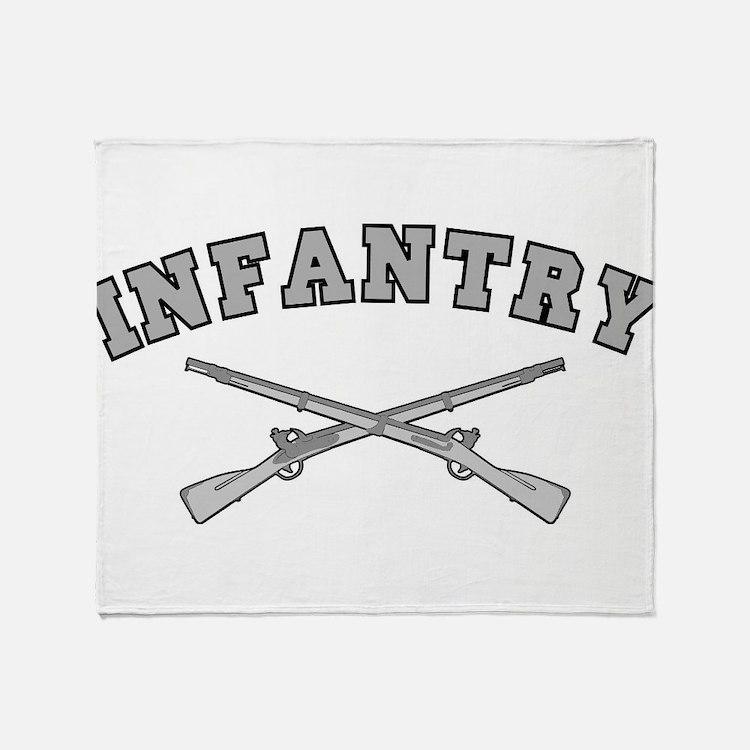 ARMY INFANTRY CROSSED RIFLES Throw Blanket