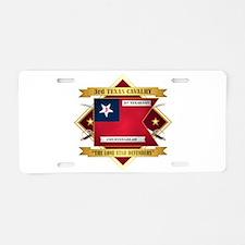 3rd Texas Cavalry Aluminum License Plate