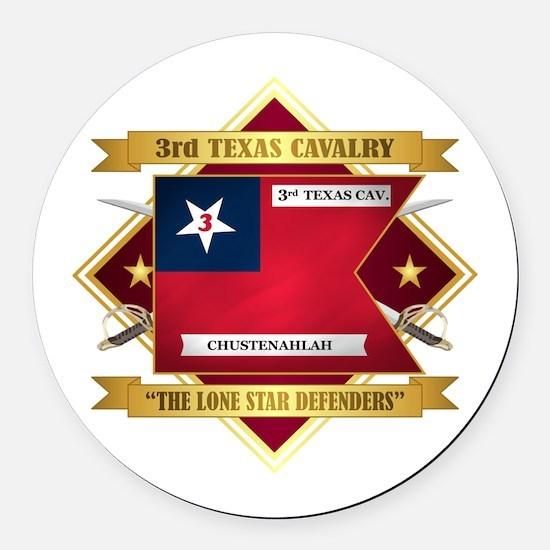 3rd Texas Cavalry Round Car Magnet