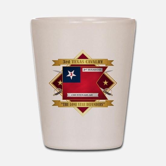 3rd Texas Cavalry Shot Glass
