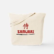 Samurai Kanji and text Tote Bag