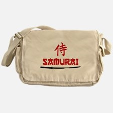 Samurai Kanji and text Messenger Bag