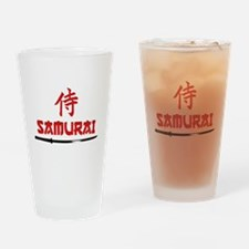 Samurai Kanji and text Drinking Glass