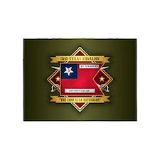 3rd Texas Cavalry 5'x7'Area Rug