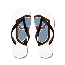 Texas Longhorn Red Bull Shield Retro Flip Flops