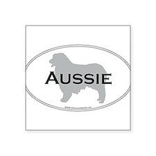 "Unique Australian shepherd lover Square Sticker 3"" x 3"""