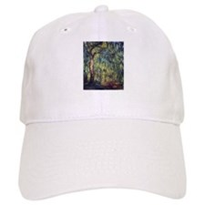 Weeping Willow by Claude Monet Baseball Cap