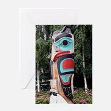 Native American Totem Pole,  Anchora Greeting Card