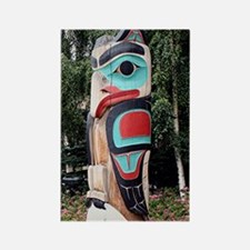 Native American Totem Pole,  Anch Rectangle Magnet