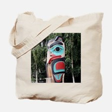 Native American Totem Pole,  Anchorage, A Tote Bag
