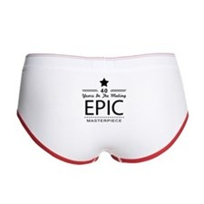 40th Birthday 40 Years Old Women's Boy Brief