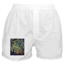 Weeping Willow by Claude Monet Boxer Shorts