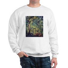 Weeping Willow by Claude Monet Sweatshirt