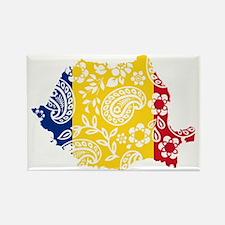 Paisley Romania Rectangle Magnet