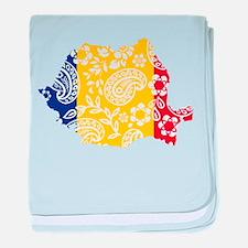 Paisley Romania baby blanket