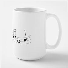 Music Notes Large Mug