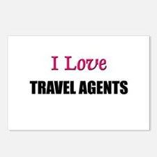 I Love TRAVEL AGENTS Postcards (Package of 8)