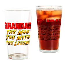 Grandad Man Myth Legend Drinking Glass