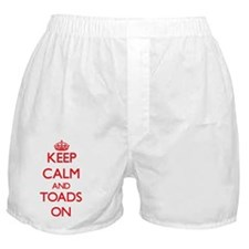 Keep calm and Toads On Boxer Shorts
