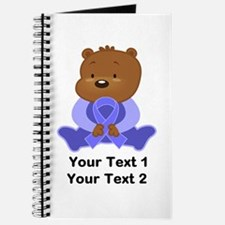 Personalized Periwinkle Awareness Bear Journal